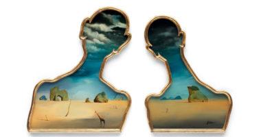 Salvador Dalí - Couple aux têtes pleines de nuages