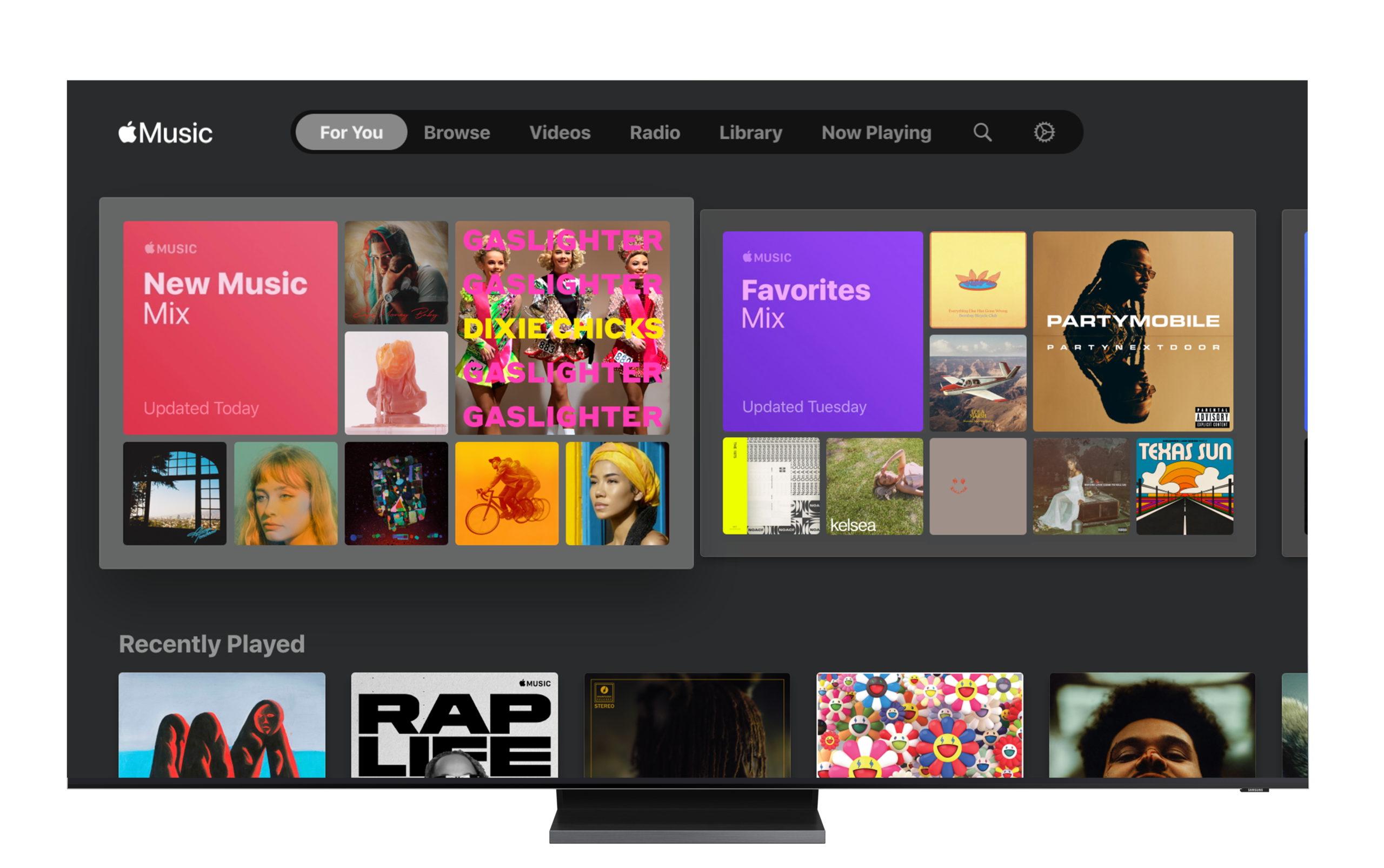 samsung smart tv apple music